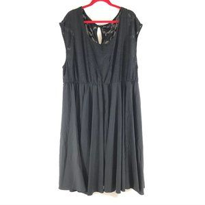 Lane Bryant Dress A Line Floral Sleeveless Keyhole